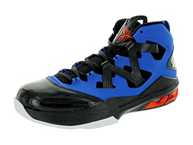 newest ab953 4969a Amazon.com   Jordan Air Melo M9 Knicks Colorway Mens Basketball Royal Black  Orange (9.5)   Basketball
