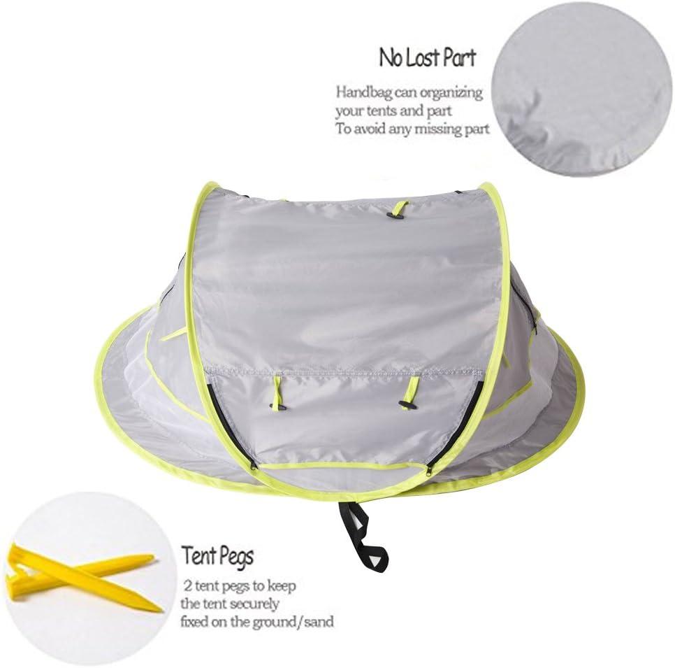 factor de protecci/ón +50 Protecci/ón ante el sol de la marca Sinotop Tienda-refugio para beb/és muy ligera anti-UV