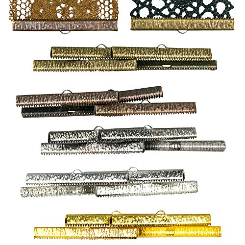 Twilight's Fancy 20 pieces - 50mm or 2 inch Mixed Finish Ribbon Clamps - Artisan Series