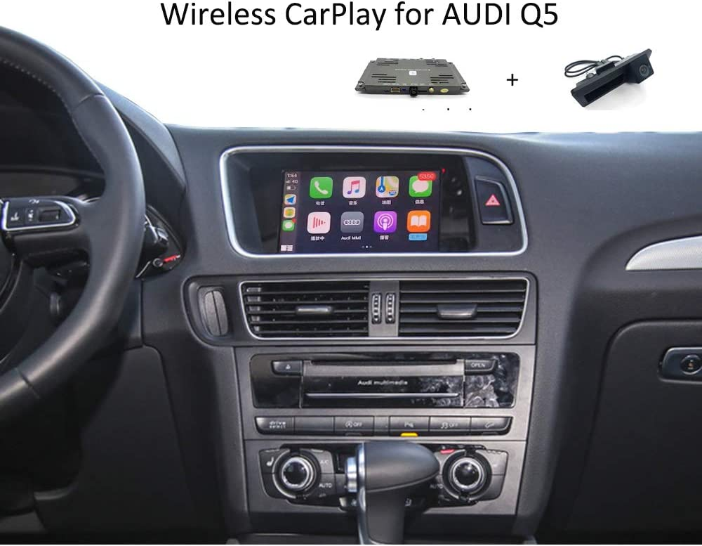 Include Rear Camera A4 A5 Q5 CarPlay for Audi Concert/Symphony Non-MMI Car Radio Function Upgrade Wireless Compatible with Apple CarPlay Android Auto Mirror Interface Navigation System