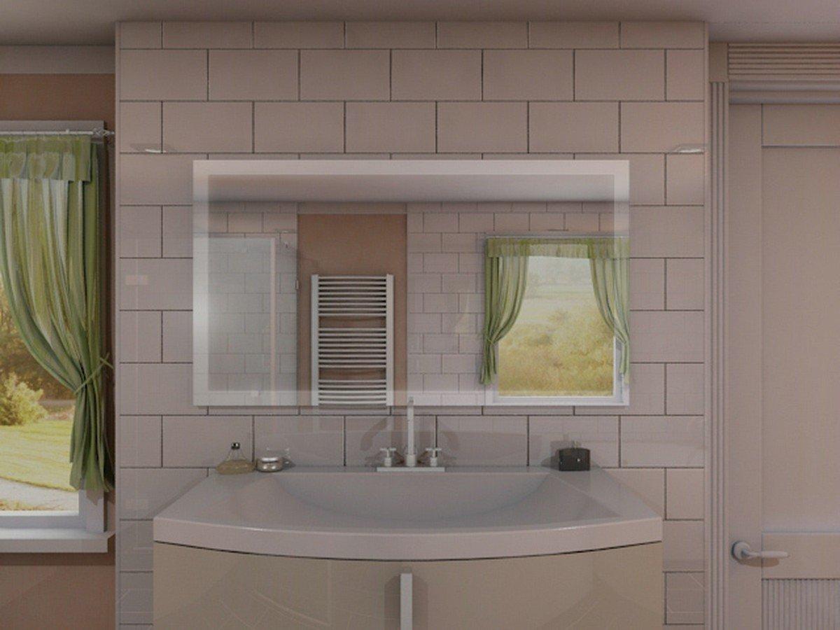 Relativ Badspiegel mit Beleuchtung New York M303L4: Design Spiegel für  FJ95