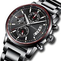 [Patrocinado] Relojes de lujo deportivos moda casual cronógrafo impermeable cuarzo reloj de pulsera de acero inoxidable reloj de mujer, Luxury