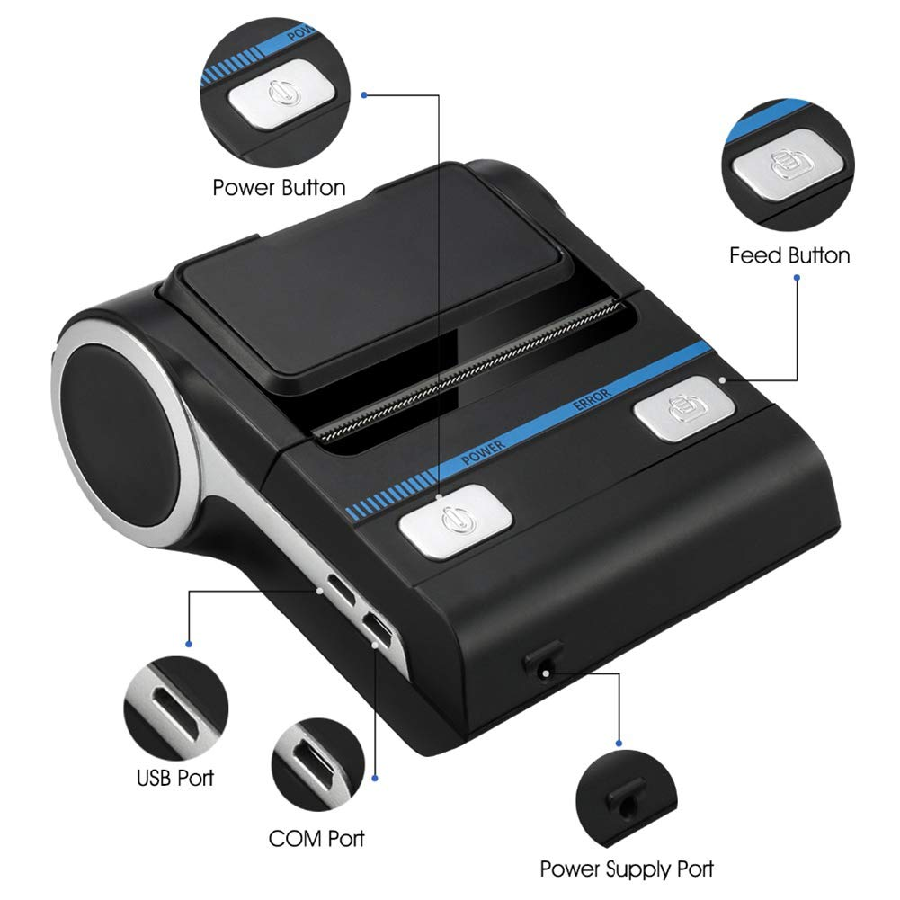 Amazon.com: JYL Thermal Printer POS Bluetooth Android 80Mm ...