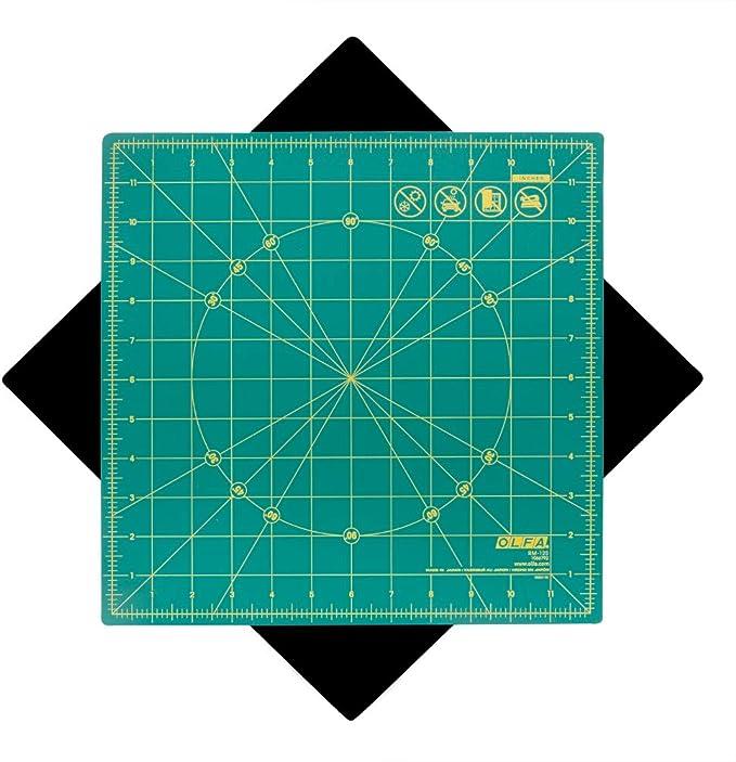 Olfa 30 x 30 CM 1-Piece Rotating Mat Green