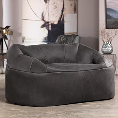 Icon Love Seat   Extra Large Two Seater Snug Chair   Snuggle Sofa For Two  People   Love Sofa For 2 People (Charcoal Grey): Amazon.co.uk: Kitchen U0026  Home