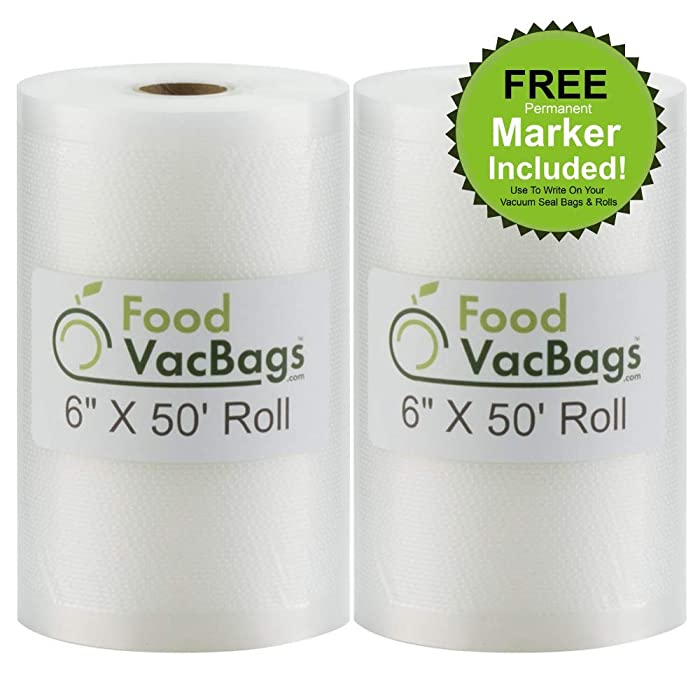 The Best Food Vac Bags 6X50 Rolls