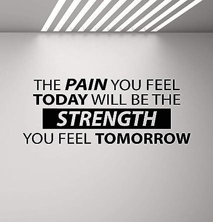 Vinilo Calcomanía De Pared Con Texto En Inglés The Pain You