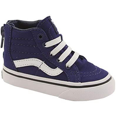 Vans Kids Boys  Sk8-Hi Zip Canvas (Toddler) 9a41036aee12