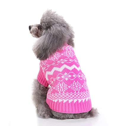a46c33082e74 Amazon.com   S-Lifeeling Snowflake Dog Sweater Holiday Halloween ...