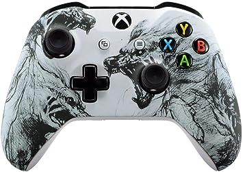 Wolf Un-MODDED - Mando a Distancia para Xbox One S/X, diseño único (con Conector de 3,5 mm): Amazon.es: Electrónica