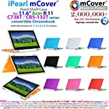 iPearl mCover Hard Shell Case for 11.6 Acer Chromebook R11 CB5-132T / C738T series ( NOT compatible with Acer C720/C730/C740/CB3-111/CB3-131 series ) Convertible Laptop (Purple)