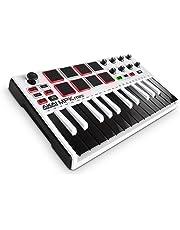 AKAI Professional MPK Mini MKII LE Blanc - Clavier Maître MIDI/USB 25 Touches Sensibles à la Vélocité avec 8 Pads et Joystick 4 Voies + VIP 3 et Pack de Logiciels Inclus