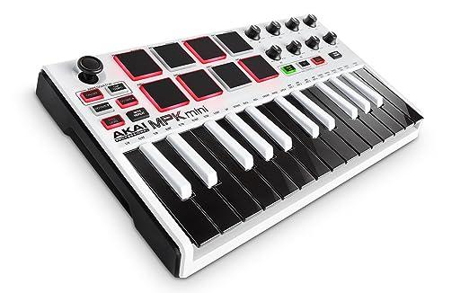 59 opinioni per AKAI Professional MPK Mini MKII Bianco- Tastiera Controller Midi USB con 25