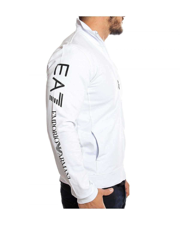 1c075dc9fece3 EMPORIO ARMANI - EA7 - Sweat Zippé pour Homme 6P208 - blanc, XXL   Amazon.fr  Vêtements et accessoires
