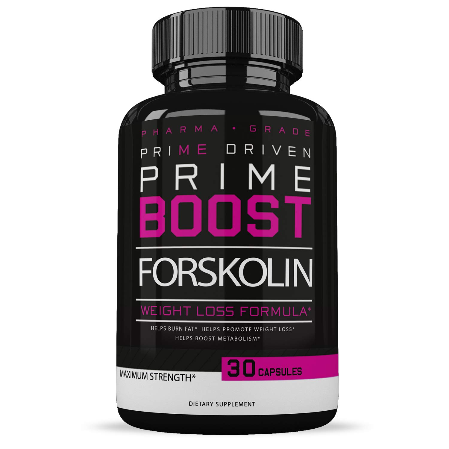 Forskolin Fat Burner - Weight Loss Supplements for Women & Men - Appetite Suppressant - Carb Blocker - 30 Capsules