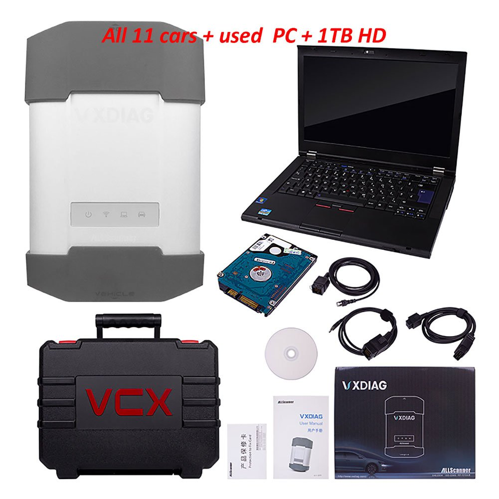VXDIAG Multi Diag Diagnostic Tool 12 Cars in 1 Device with T420 for GM TECH2 JLR LAND ROVER BMW icom a2 a3 for toyota it3 it2 HDS VCM Vcads star C4 with Used Laptop