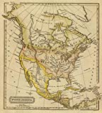 1828 School Atlas | North America. J.W. Barber sc. (Published by Richardson & Lord. Sold also by Collins & Hannay, New-York, 1828) | Antique Vintage Map Reprint