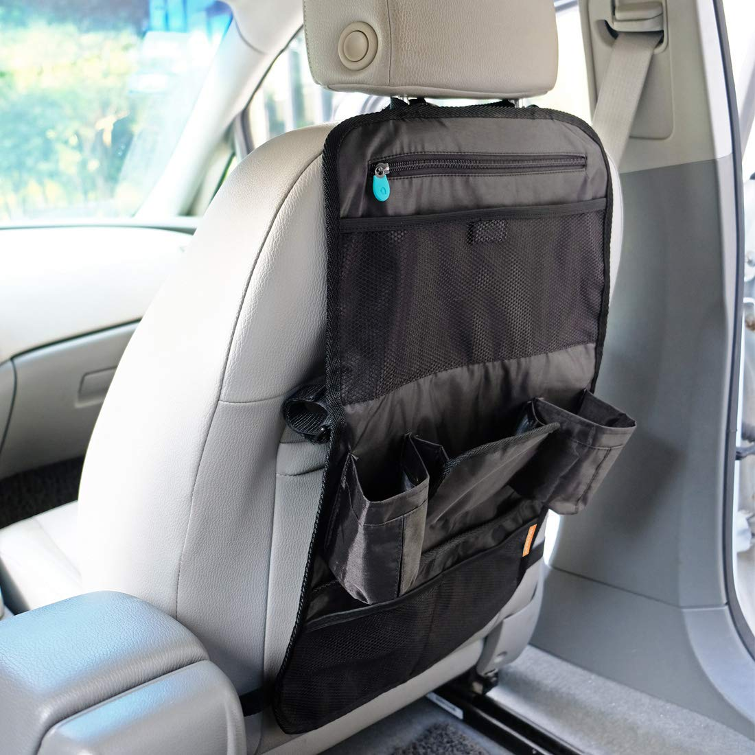 2pc INFANZIA Car Seat Back Organizer for Kids Travel Accessories Back Seat Protector with Multi Pocket Storage