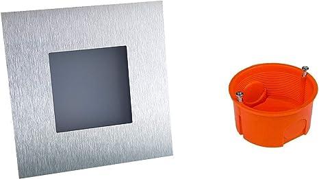 NAKA24 - Juego de 6 focos, para iluminación led de pared y escalera, 2 W, 230 V, caja de empotrar 21/WS/W/ED/230 V: Amazon.es: Iluminación