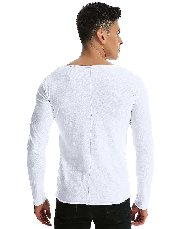 MODCHOK Homme T-Shirt Manche Longue Top Tee Shirt Pull Sport Basic Slim Fit  MODCHOKCaaomufaFR1283 Vacances de Noël e3cd55a70623