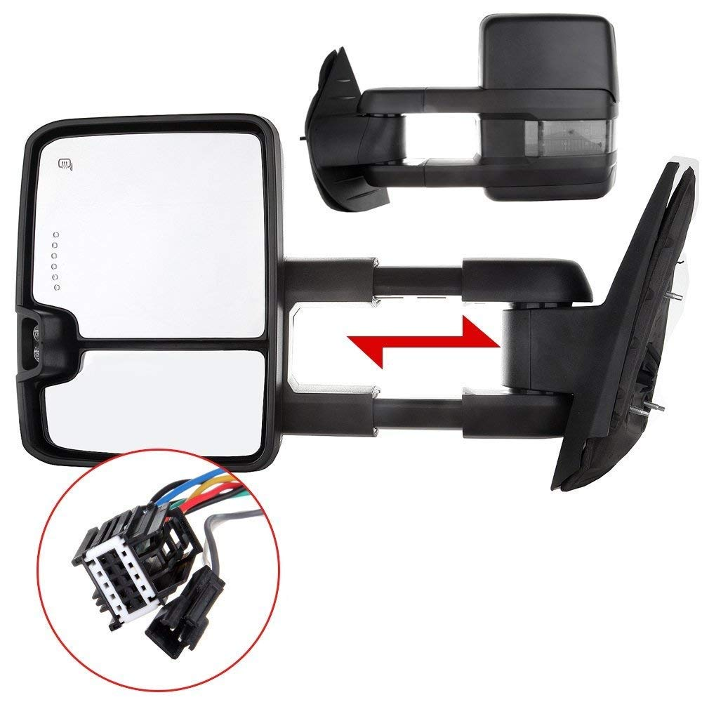 Eccpp Towing Mirrors High Performance Automotive 09 Silverado Heated Mirror Wiring Diagram Exterior 07 14 Chevy Gmc Sierra 1500 2500hd 3500hd Power Operation