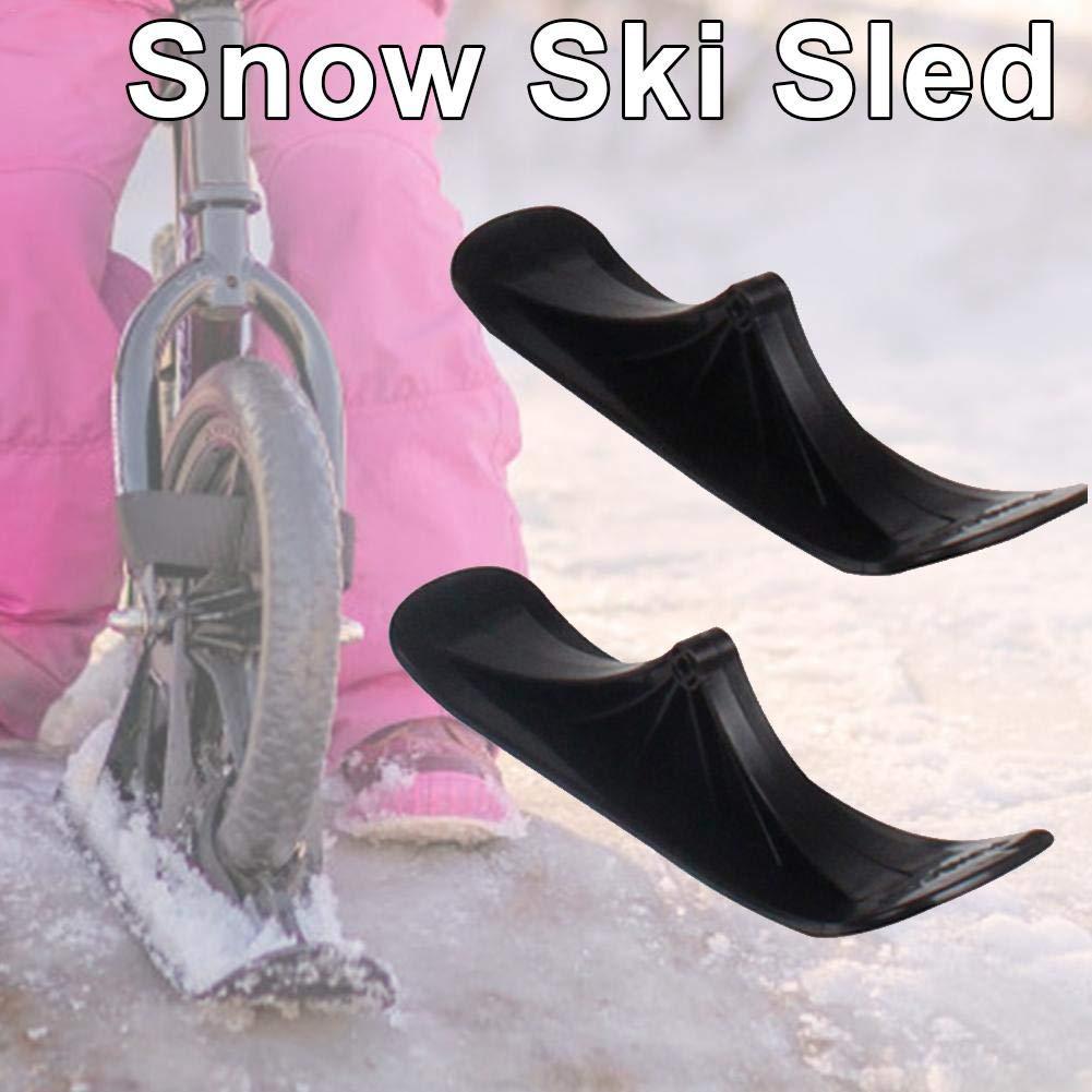cineman Snow Scooter Ski Fun Winter Schneeschlitten Ski Set Skischlittenzubeh/ör F/ür Balance Bikes Scooter Ski Converter Kit