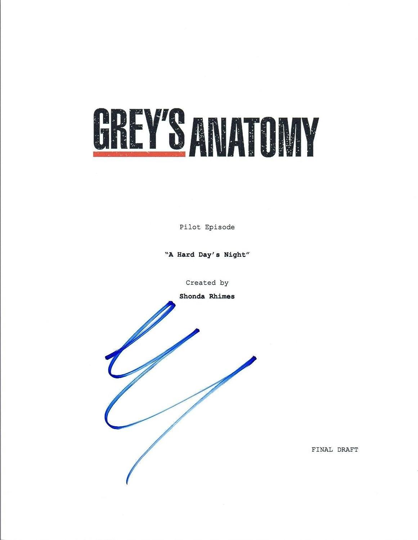 Eric Dane Signed Autographed GREY\'S ANATOMY Pilot Episode Script COA ...