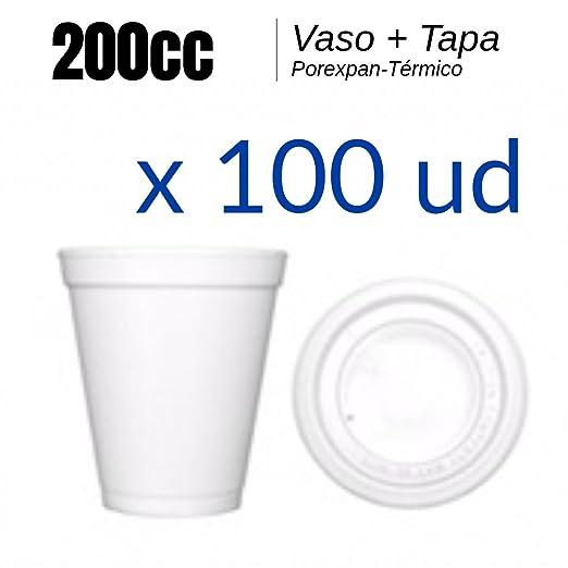 Vaso Porexpan - Vaso Porex 200cc - LOTE 100ud - Vaso termico ...