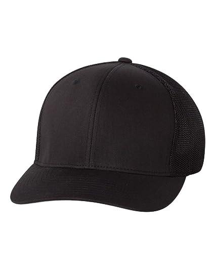 0c6c068cd13140 Flexfit Trucker Cap, Black at Amazon Men's Clothing store: