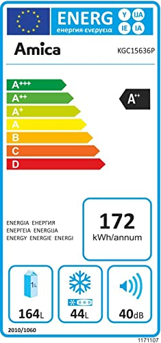 Amica KGC 15636P Kühlschrank/A++ /Kühlteil168 liters