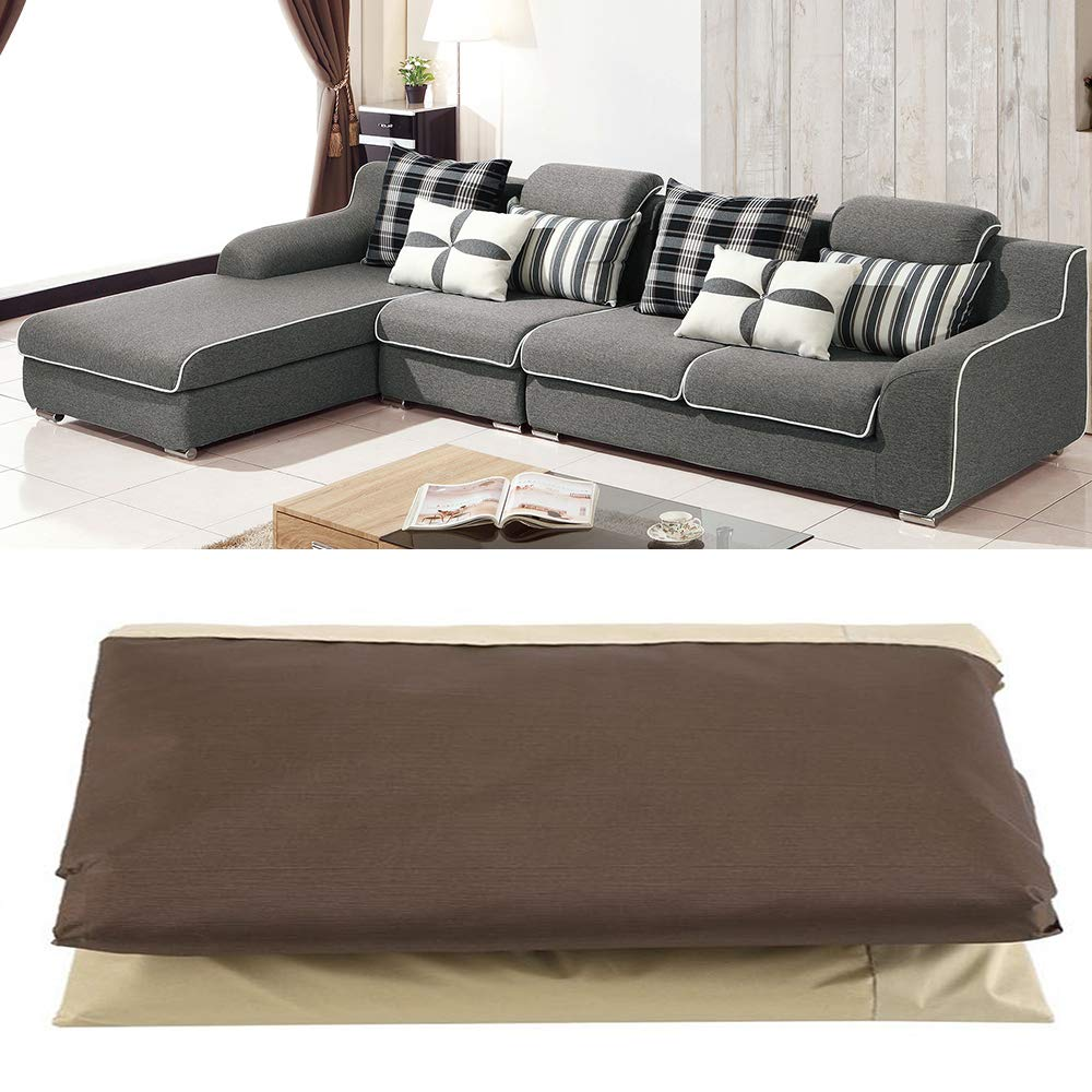 Protective Cover Water Resistant Beige bottlewise Protective Corner Sofa Cover Waterproof Garden Furniture Cover Right, Left Anti-UV Dustproof for Outdoor Sofa Patio 264 x 210 x 78 cm