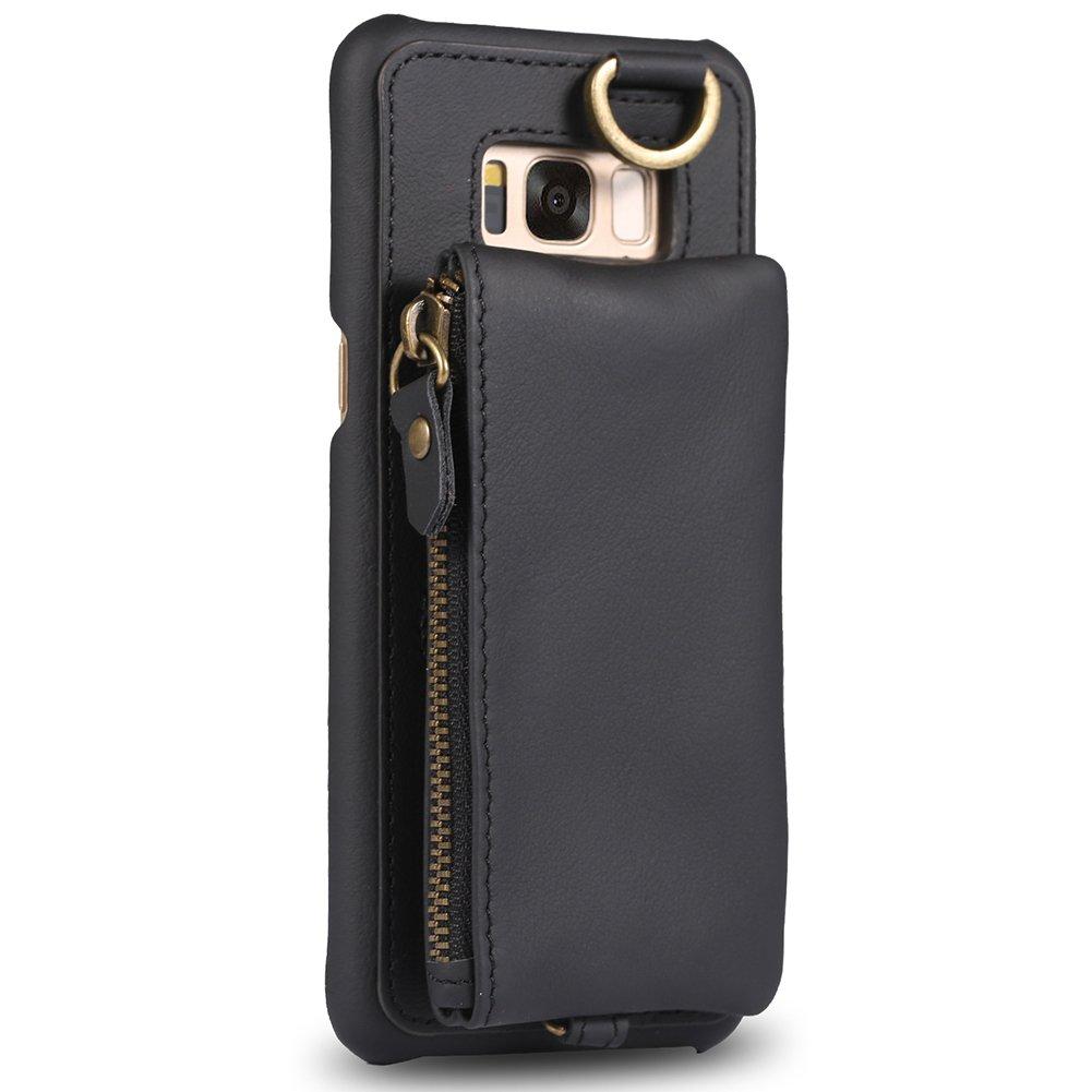 Samsung Galaxy s8 Plus財布ケース、Galaxy s8 Plusカードホルダーケース、ボラs8 Plusスリムレザーケース取り外しクレジットカードポケット、キックスタンドカバーfor Samsung Galaxy s8 Plus。 S8+ 6.2