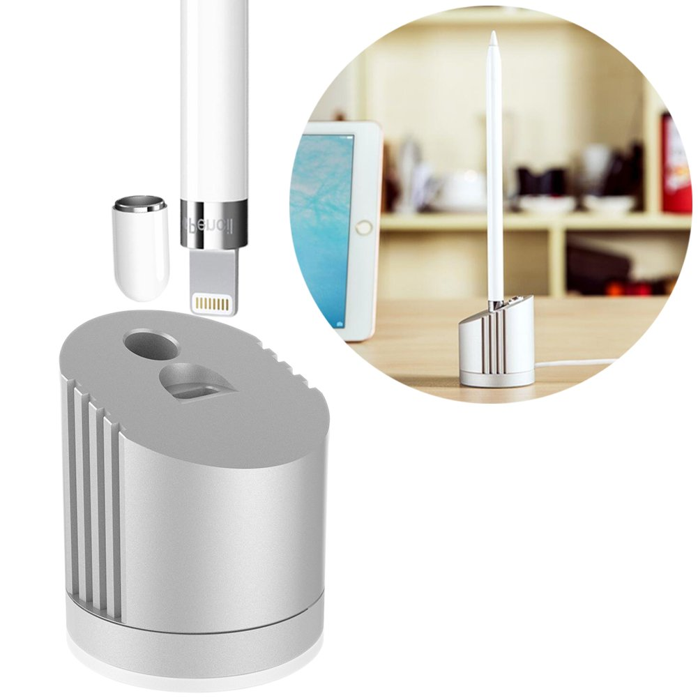 Charger Dock/Stand for Apple Pencil Built-in 5FT Charging Cable (Hold Your Apple Pen & Apple Penci Cap While Charge), Perfect ipad Pro Pencil Accessories