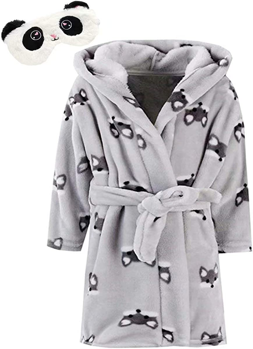 DAIMIDY Family Matching Soft Fleece Robes with Eye Mask 1 Year Adult XL