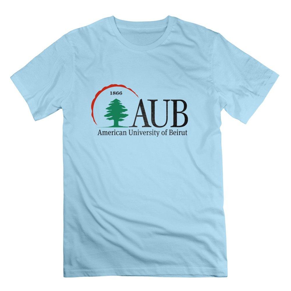 Design t shirt university - Amazon Com Men S American University Of Beirut Logo T Shirt Natural Clothing