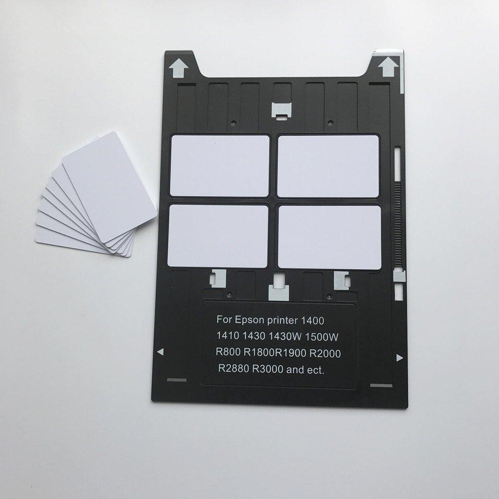 PVC ID Card Tray for Espon A3 Type Printer 1400,1500W,1430 +50X Blank Inkjet PVC Card by CSF (Image #2)