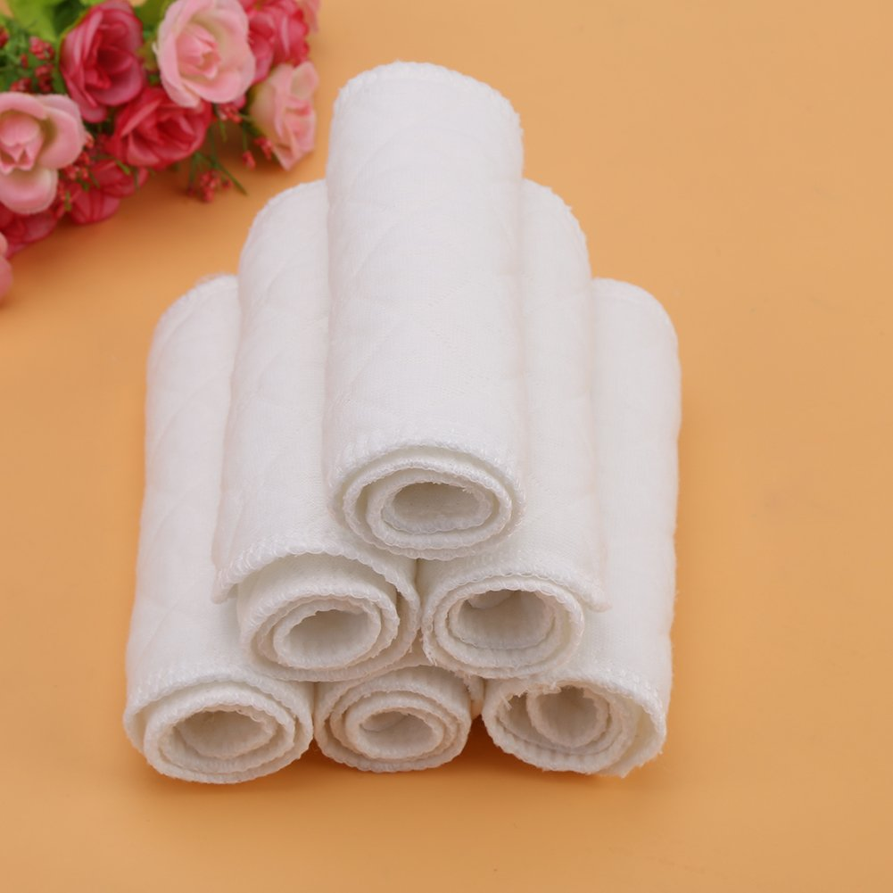 3 Ebenen Windel Liner Stoffwindel,Washable Nappy Liner Cloth Diaper Only Weiche /& Atmungsaktive Baby Kleinkind Baumwolle Moderne Stoffwindel Windel Einlagen ,10 st/ücke