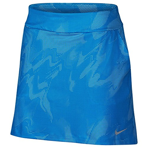 Nike Knit Skirt - Nike Dry Knit 16.5 Summer Print Golf Skort 2018 Women Equator Blue/Flat Silver Small