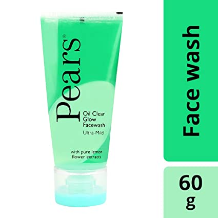Pears Oil Clear Glow Face Wash, 60gm