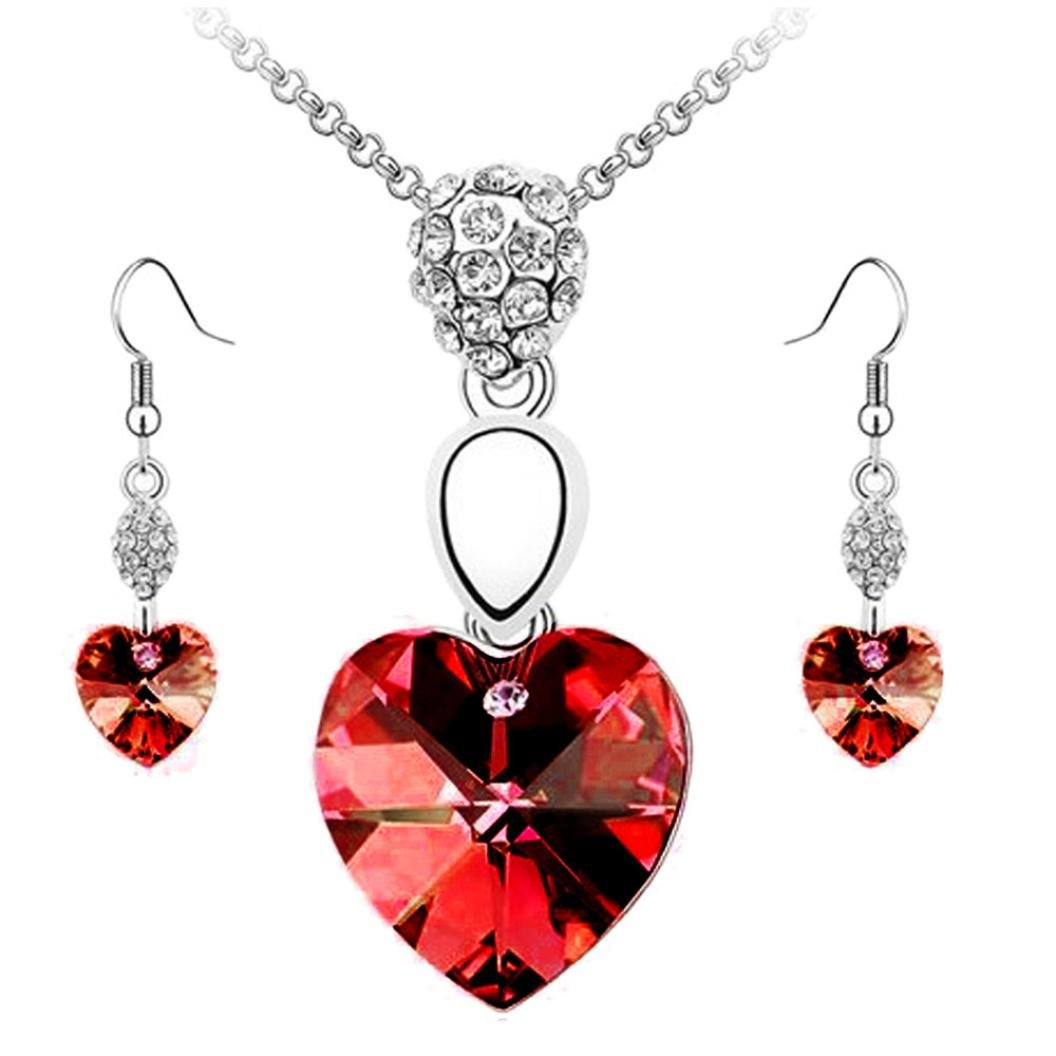 Matching Necklace And Earring Set Brand New In Box Outstanding Features Jewelry & Watches