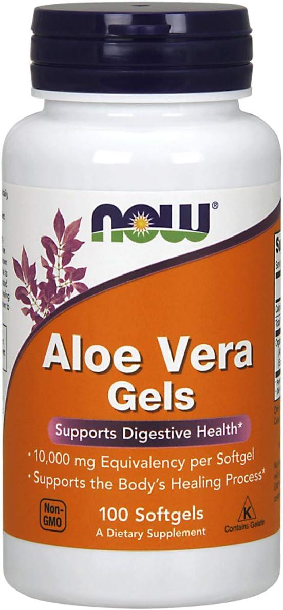 NOW Foods Aloe Vera 10, 000 Gels 100 Sgels