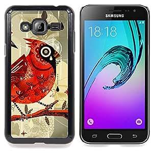 Bird Drawing Watercolor Rain Caja protectora de pl??stico duro Dise?¡Àado King Case For Samsung Galaxy J3