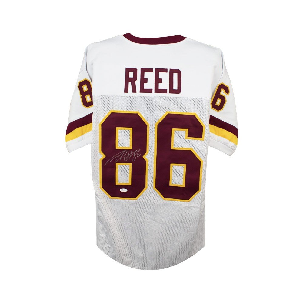Jordan Reed Autographed Washington Redskins Custom White Football Jersey JSA COA SCC