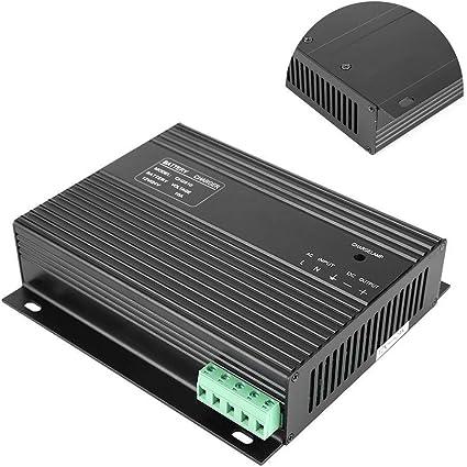 MOZUSA Generador cargador de batería, 12V / 24V 10A cargador de batería del grupo electrógeno diesel generador inteligente herramientas industriales