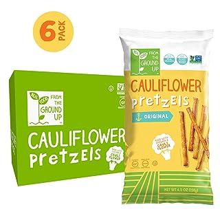 REAL FOOD FROM THE GROUND UP Vegan Pretzels - 6 Count (Cauliflower, Sticks)