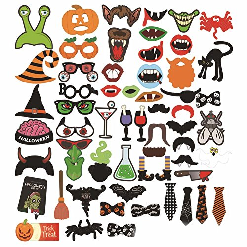 Uspeedy 31 PCS Halloween Photo Booth Props for Weddings and Photo Shoots Special Party (1 3 (Happy Halloween Nyc)