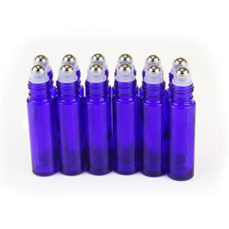 One Trillion,azul, 10 ml roll-on botellas de cristal con bolas de