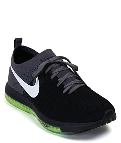 Nike Unisex Black Gray Running Shoes - 7.5