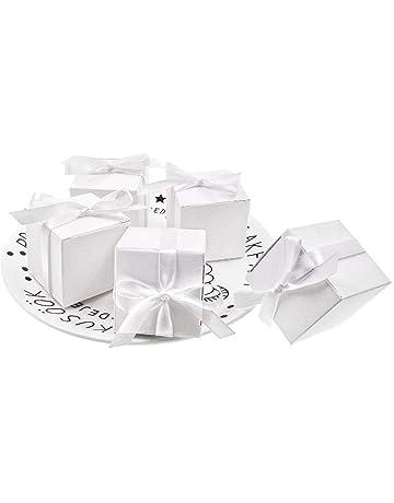 JZK caja para regalo bombones boda baby shower cumpleaños graduación caramelos chocolates pequeños regalos y joyasNavidad
