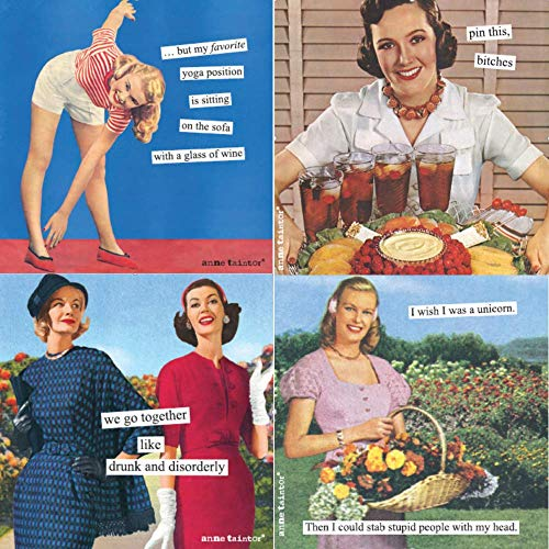 Women Cocktail Napkins Funny Anne Taintor Variety Pack 40 total ()